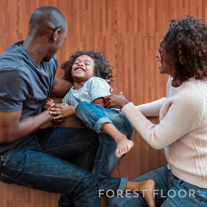 Forest Floor 3//8 Thick Printed Wood Grain Interlocking Foam Floor Mats