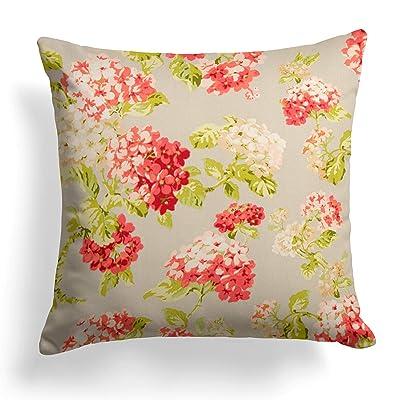 Grouchy Goose Summer Garden Outdoor Pillow, 25x25, Gray: Home & Kitchen
