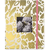Kate Spade Large Academic Daily Planner 2018-2019 with Daily Weekly Monthly Views and Happy Stickers (Gold Floral)