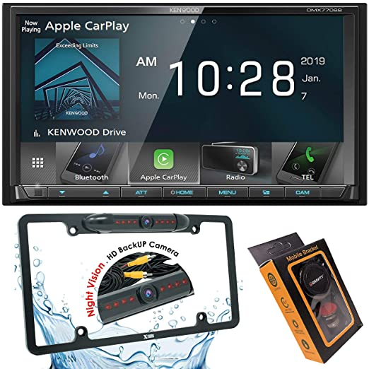 Kenwood DMX7705S Car Stereo Double Din Radio with Apple CarPlay Android on