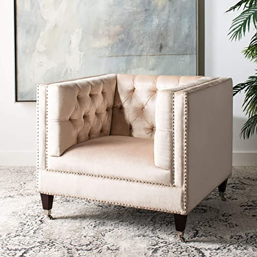 Safavieh Couture Collection Miller Pearl Birch Legs Accent Chair