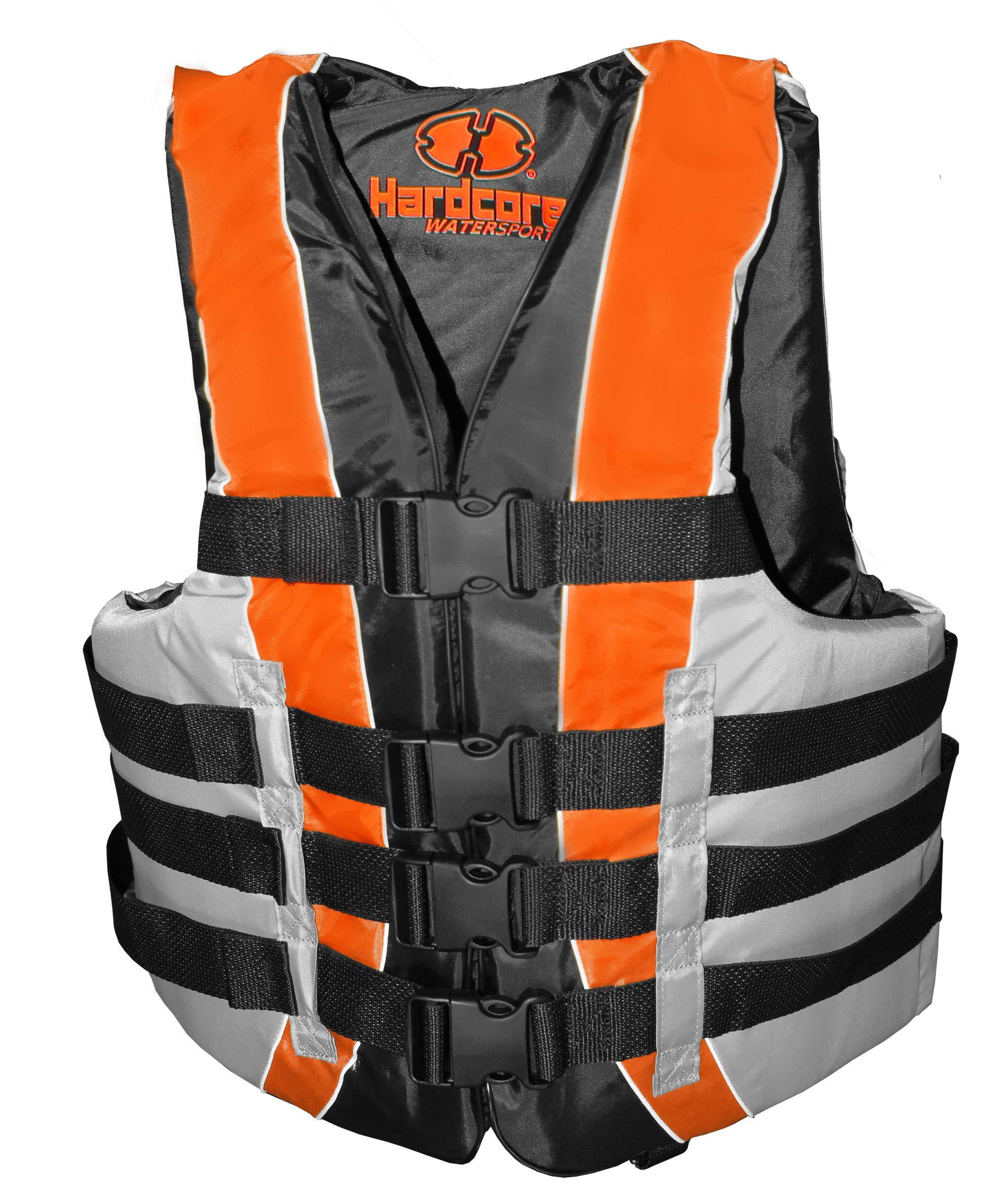 Hardcore Water Sports Adult L/XL Life Jacket Fully Enclosed Coast Guard PFD