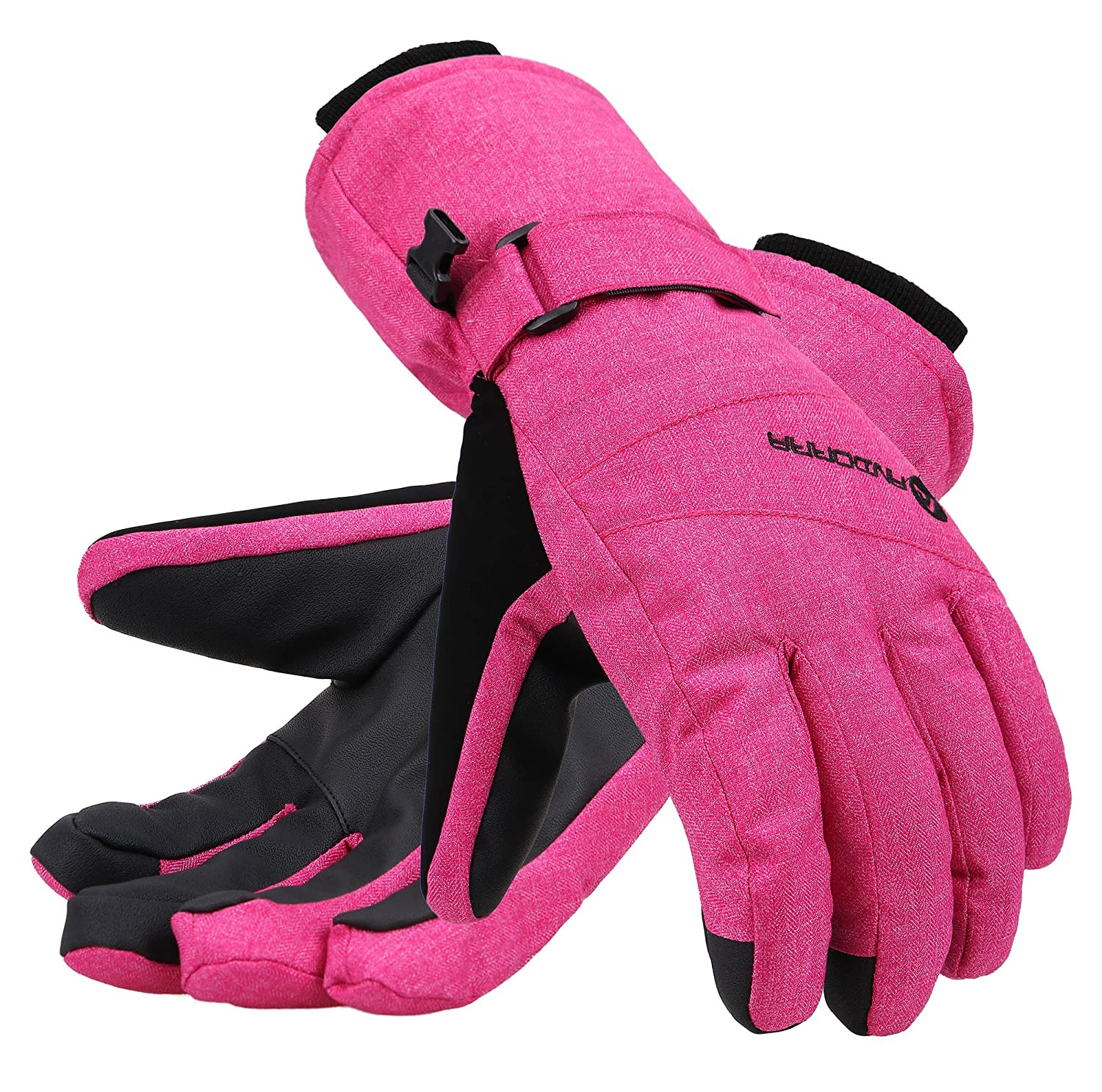 Andorra Women's Classic Zippered Pocket Touchscreen Ski Glove