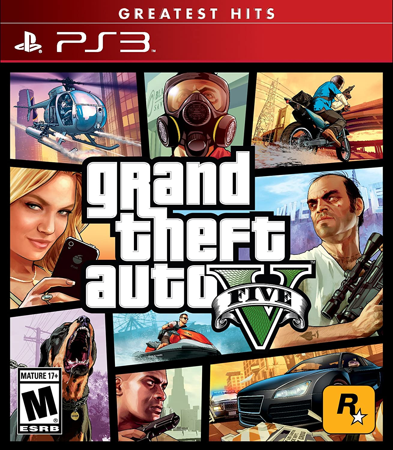Amazon.com: Grand Theft Auto V - PlayStation 3: Take 2 Interactive ...