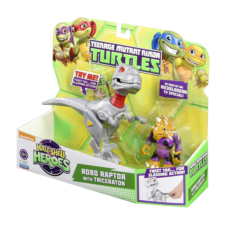 Teenage Mutant Ninja Turtles Robo T-Rex y Triceraton Half ...