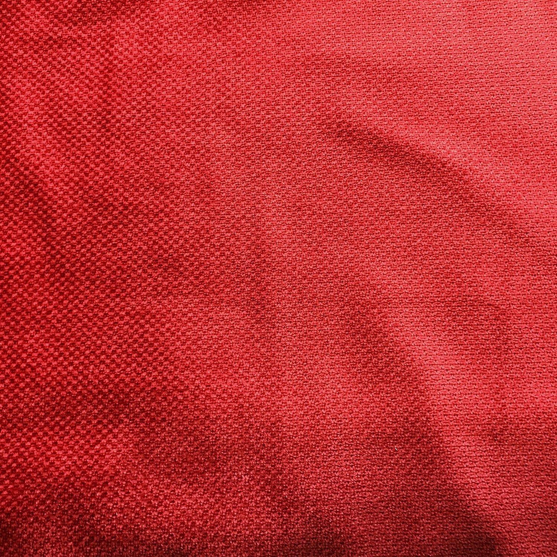 Premium Chenille Futon Cover w/Zipper - Samantha Solid Persimmon - Handmade in USA - King Size (78'' x 80'')