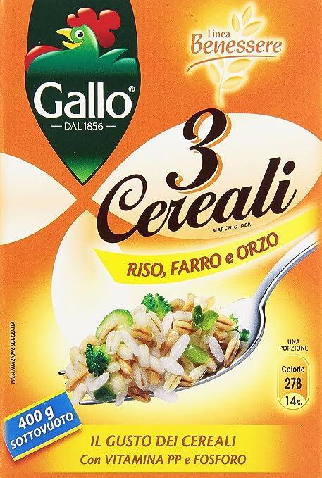 8 opinioni per Gallo Riso 3 Cereali 400Gr- [confezione da 4]