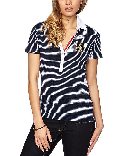 Tommy Hilfiger - Camiseta - Polo - Polo - Manga Corta - Mujer Azul ...