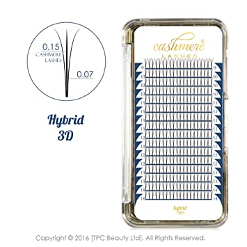 7bf4a6f567b Cashmere Lashes®   Ellipse Flat Pre made Russian Hybrid Fan Lashes   3D  0.07 0.15