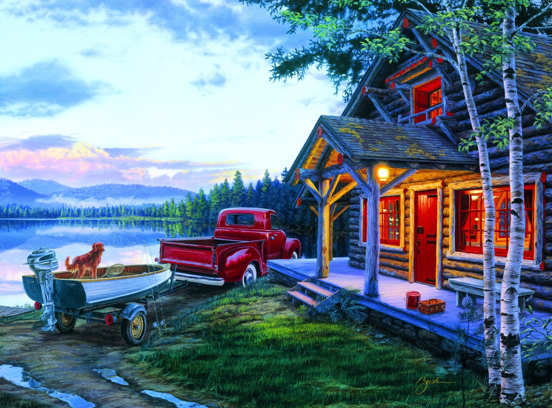 Buffalo Games Darrell Bush: Cabin Fever - 1000 Piece Jigsaw Puzzle by Buffalo Games by Buffalo Games
