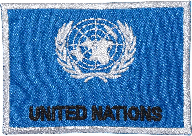 Las Naciones Unidas Bandera Militar del ejército de bordado Sew de ...