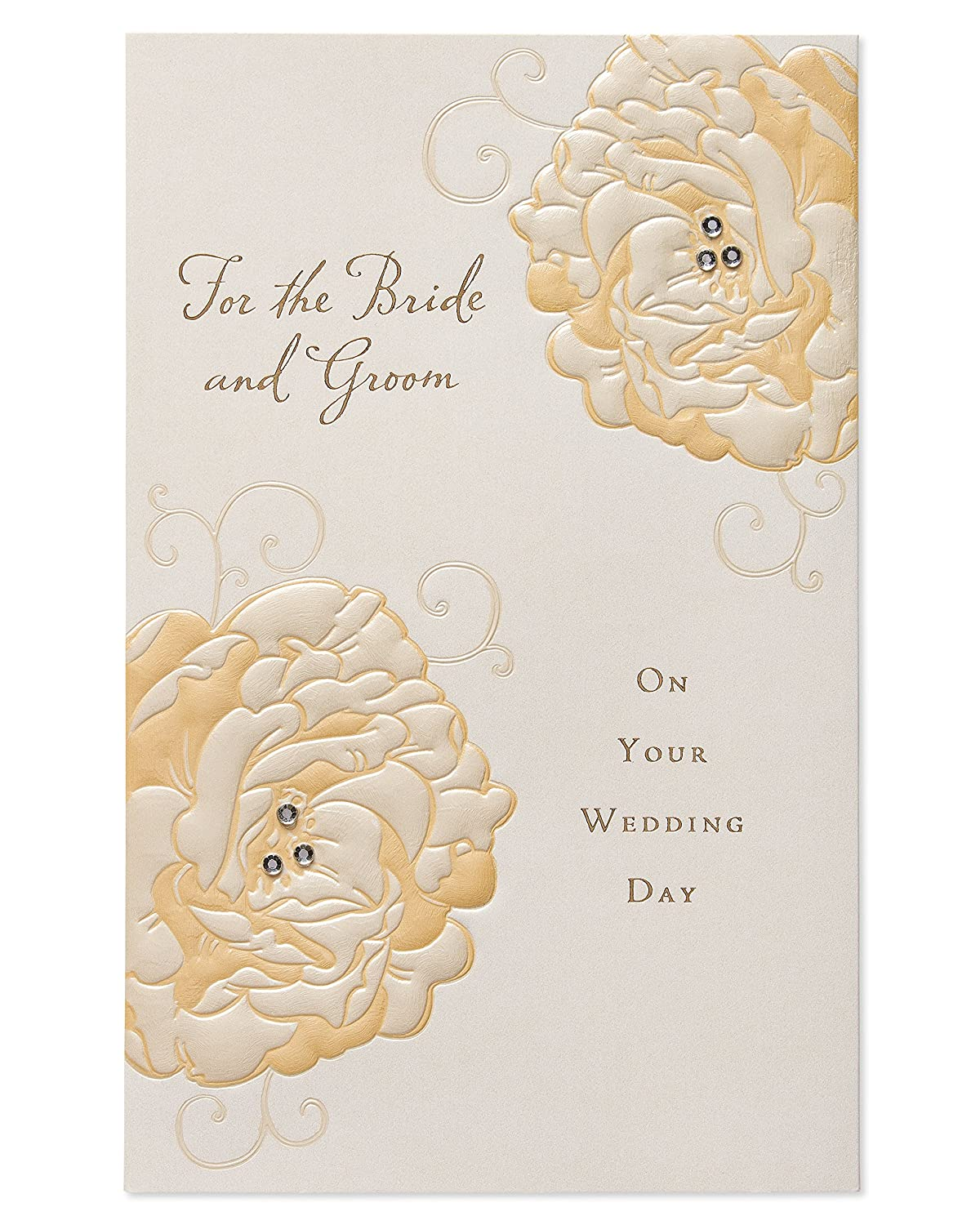 American Greetings Great Couple Wedding Card with Rhinestone 5986767