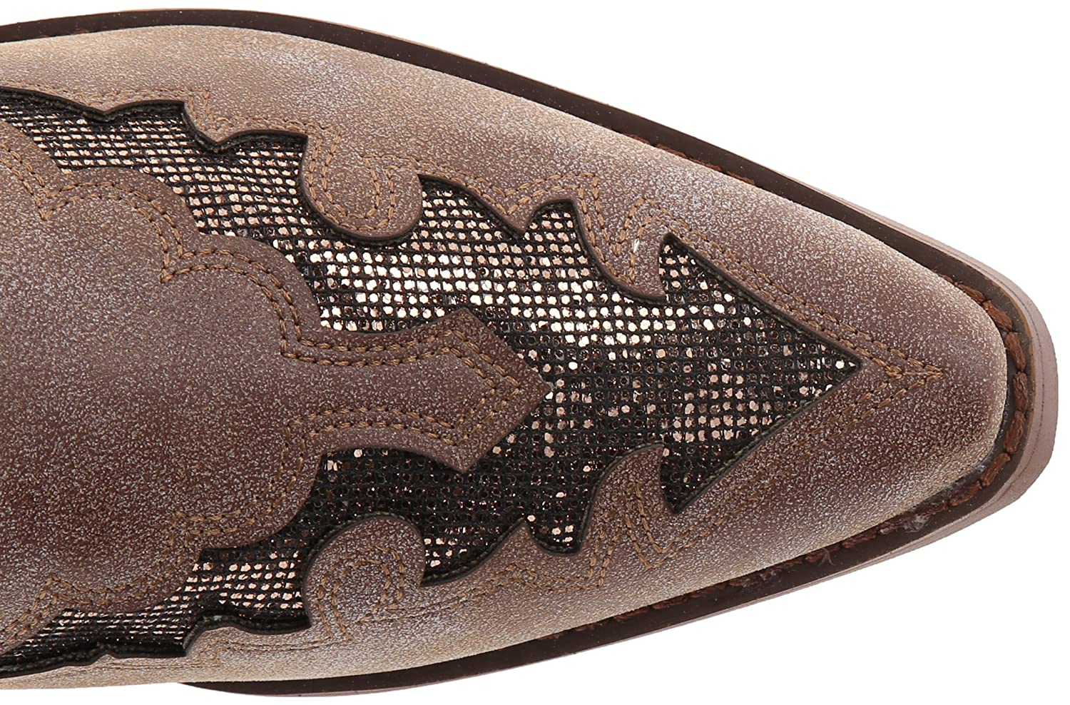 Roper Women's Snippy Glitter Western Boot B00E54N040 6.5 M US|Brown
