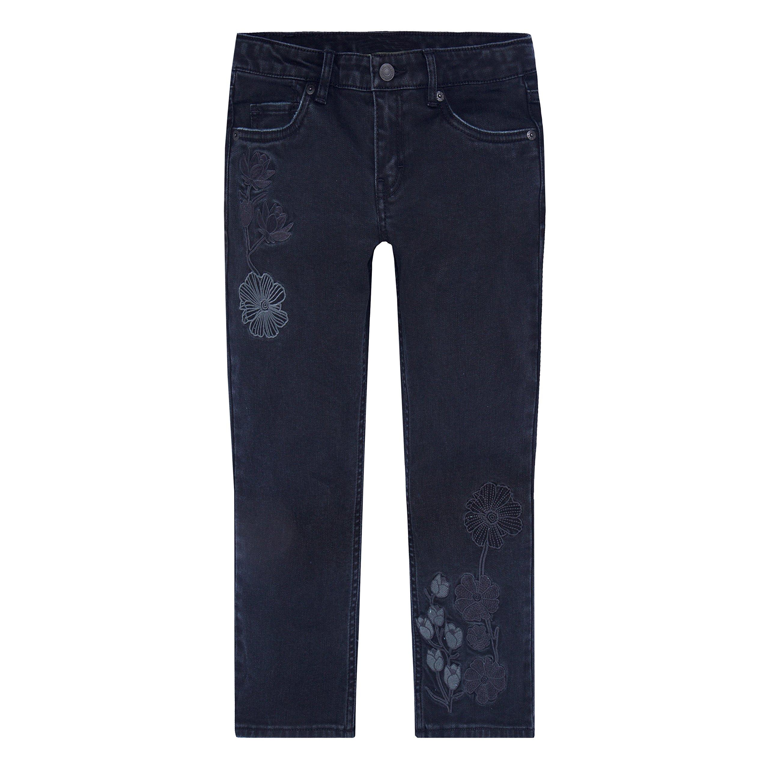 Levi's Girls' Big 715 Bootcut Thick Stitch Jeans, Jet Black, 14