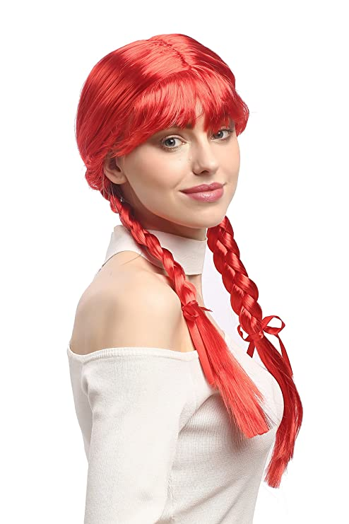 WIG ME UP ® - XR-008-PC13 Peluca Mujeres Carnaval Cosplay Larga Trenzas
