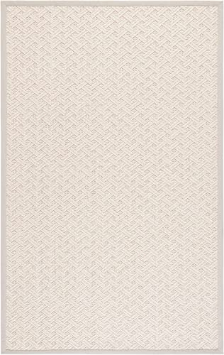 Safavieh Natural Fiber Collection NF487A Flat Weave Wool Jute Area Rug