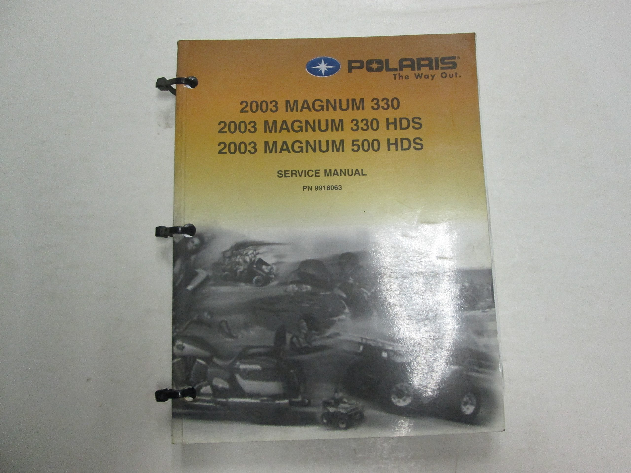 2003 polaris magnum 330 hds 500 hds service repair manual damaged.