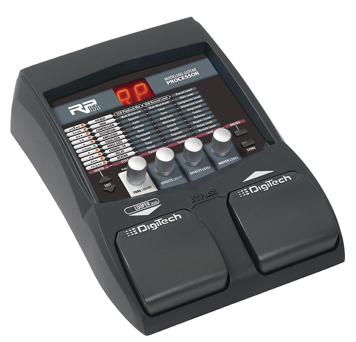 digitech rp155 guitar multi effects processor musical