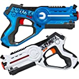 Best Choice Products Multiplayer Mode 2 Pack Kids Infrared Laser Tag Gun Toy Blasters