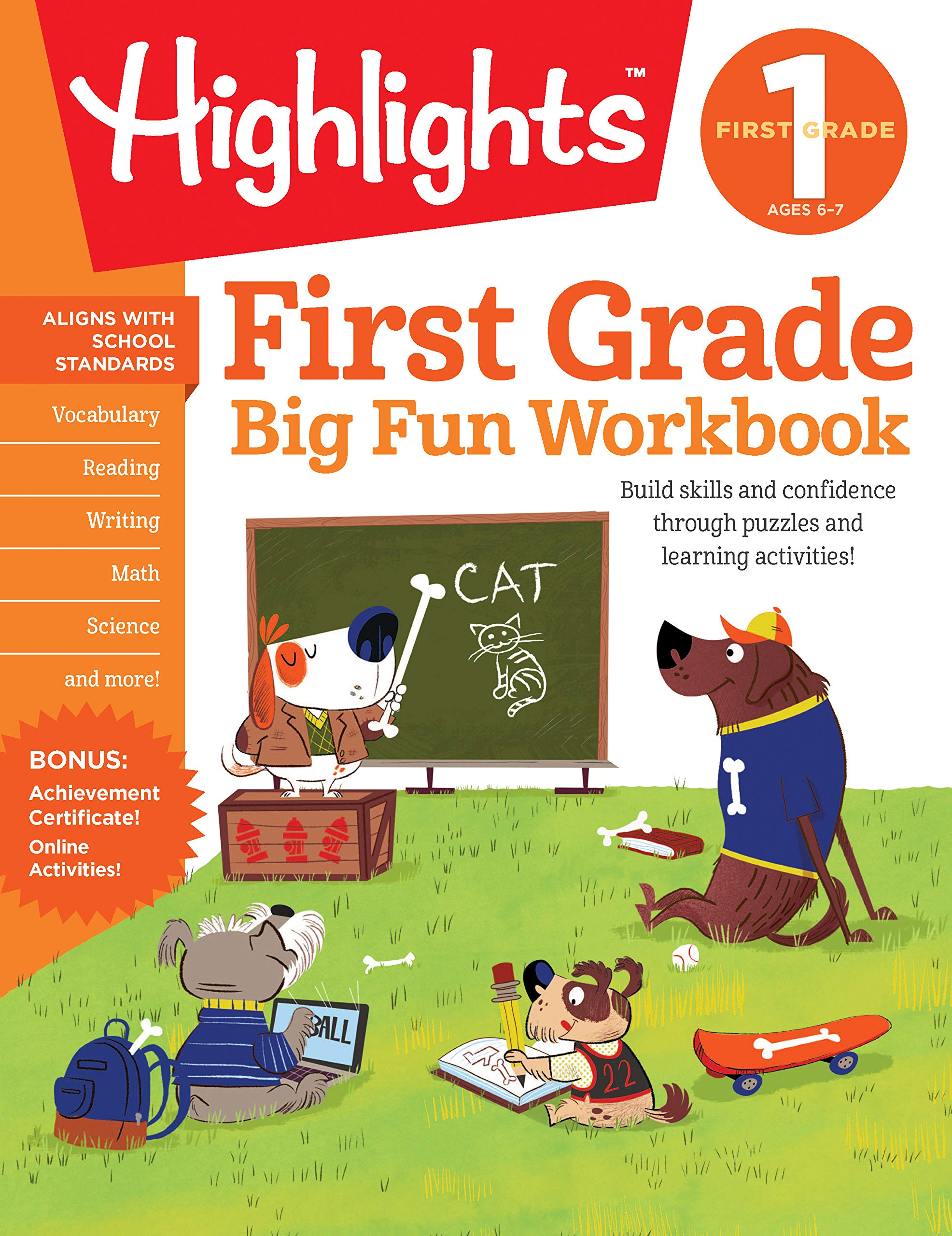 First Grade Activity HighlightsTM Workbooks product image