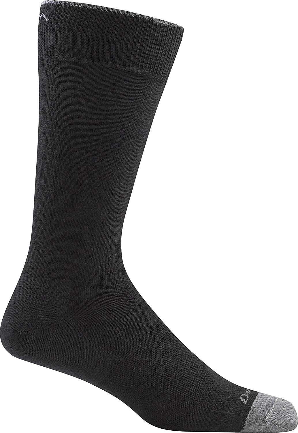 Darn Tough Men's Solid Crew Light Sock (Style 1617) Merino Wool - 6 Pack Special