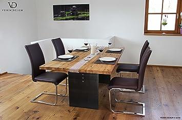 Holztisch Design esstisch manhattan eiche massiv 200 x 100 cm designer tisch