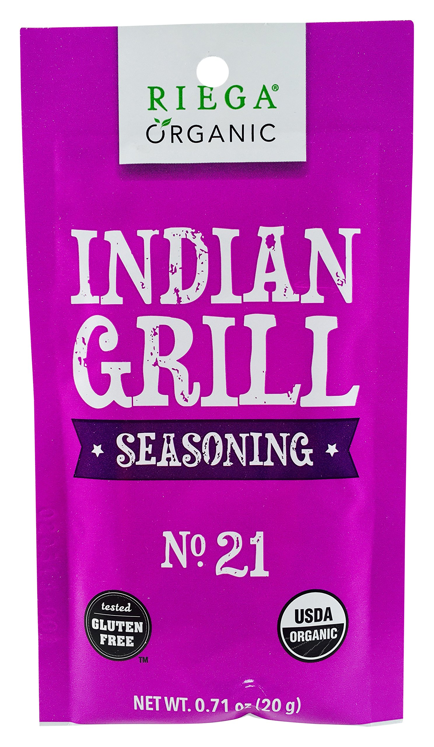 Riega Indian Grill Seasoning, 0.71 Ounce (Pack of 8) by Riega