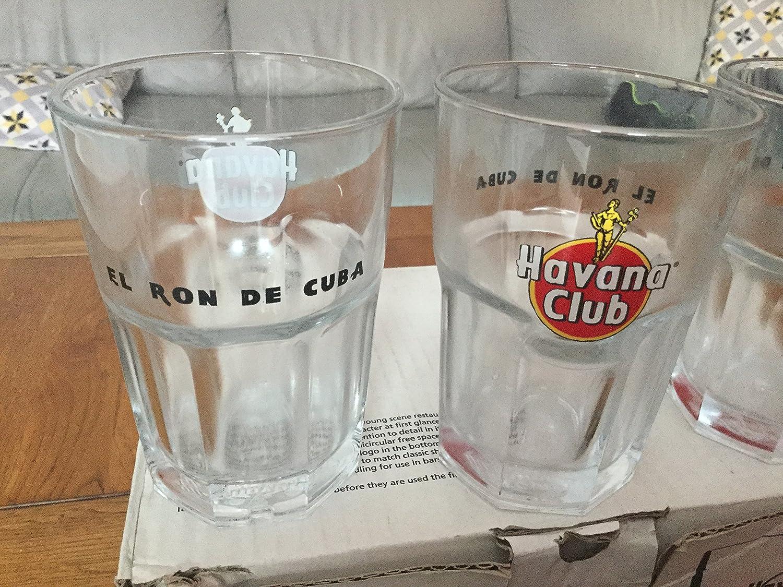 Juego de 6 cristal Havana Club 34 cl Exclusive Tumbler Ron ...