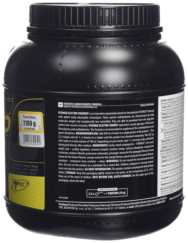 Trec Nutrition Vitargo Elektro-Energy 2,1kg Limón Pomelo: Amazon.es: Salud y cuidado personal