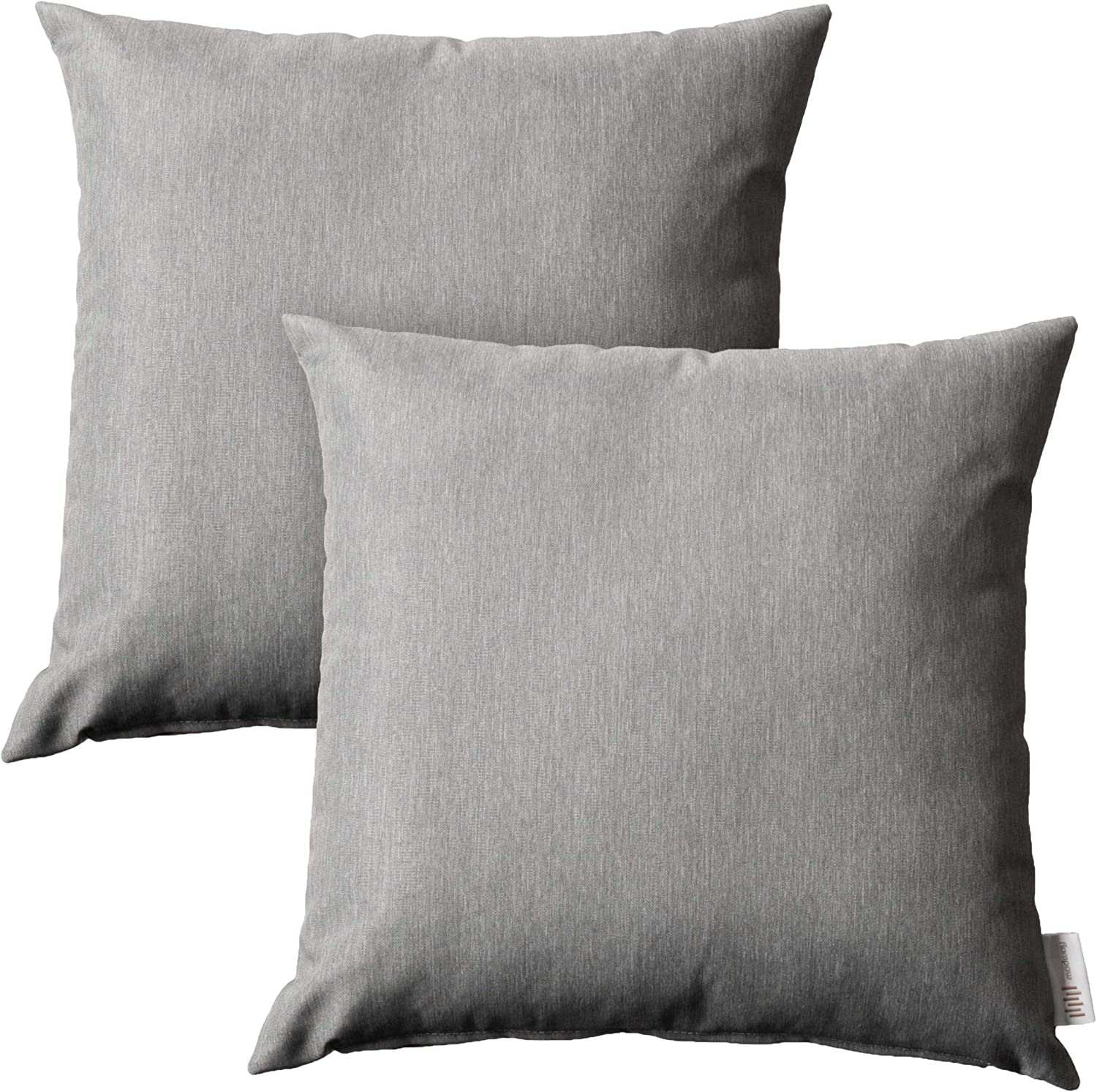 Modway Convene Outdoor Patio All-Weather Pillow in Gray - Set of 2