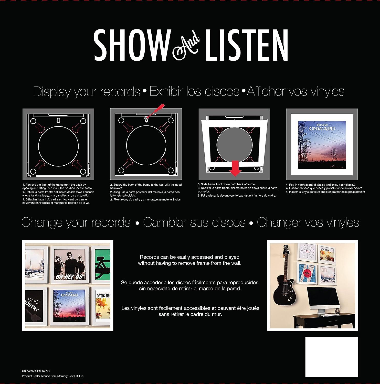 Amazon.com: Snap Show & Listen Art Vinyl Record Display Frame, White ...