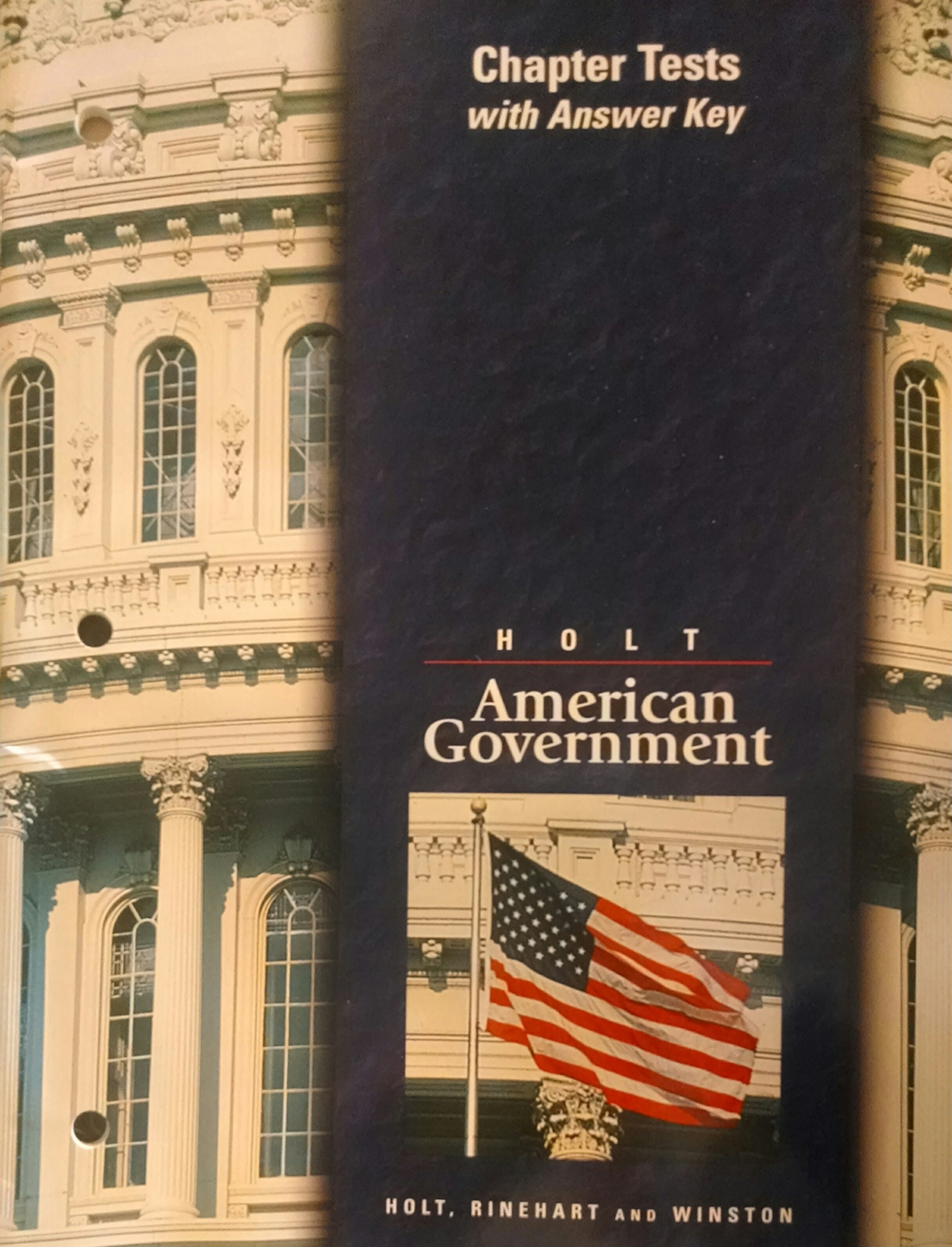 Chapter tests with answer key holt american government holt chapter tests with answer key holt american government holt 9780030516122 amazon books fandeluxe Images