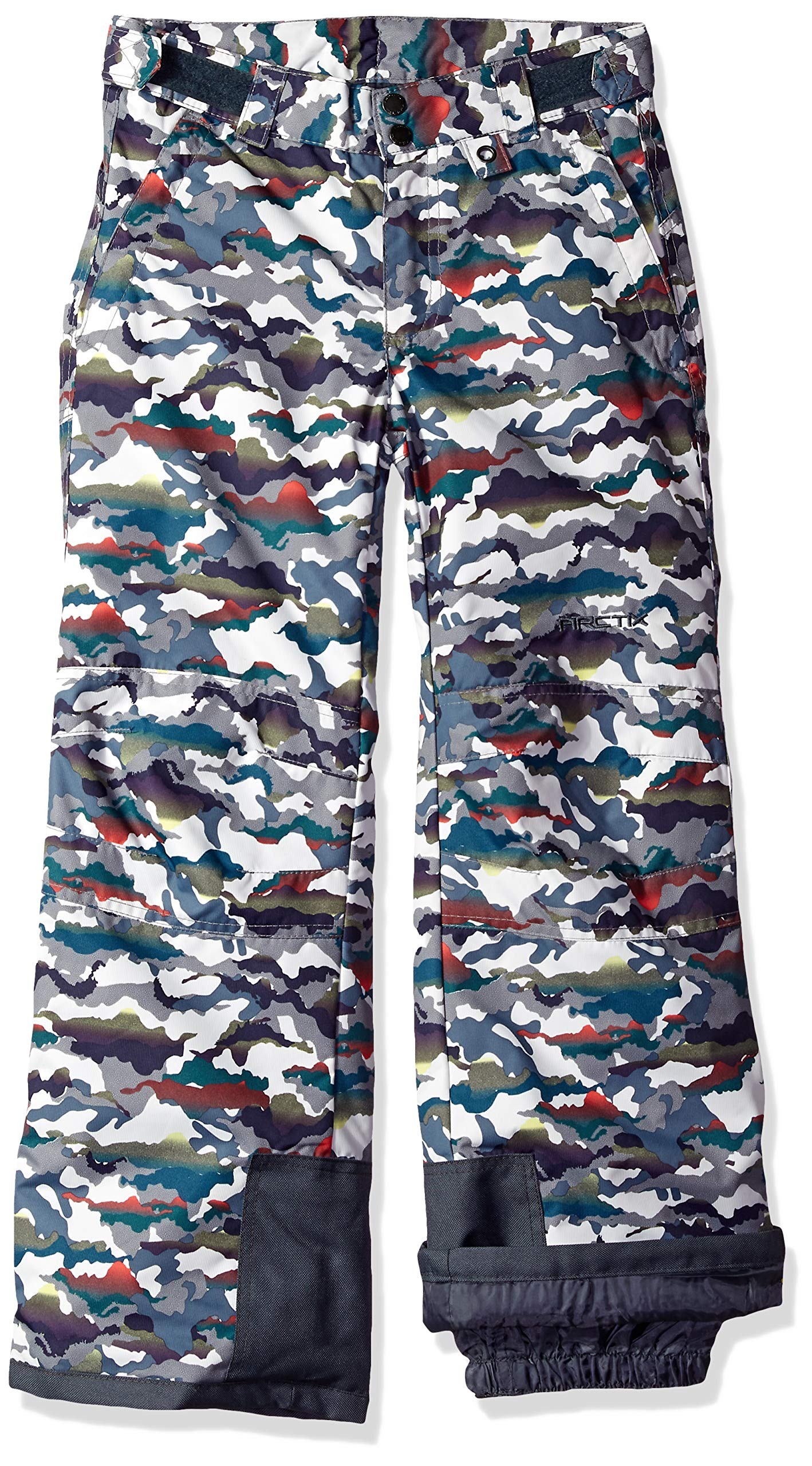Arctix Youth Snow Pants with Reinforced Knees and Seat, White Multi Camo, Medium by Arctix