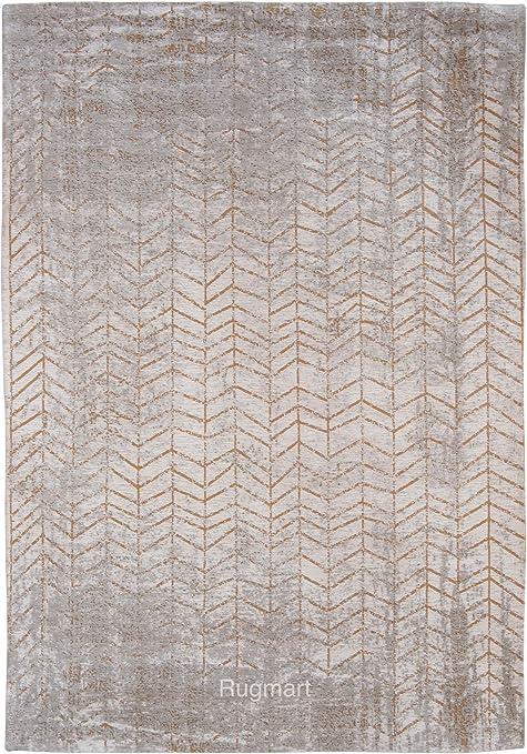 Louis de Poortere Rugs - Alfombra de diseño para hombre, escalera de Jacob, modelo 8928, color amarillo y gris, moderna, contemporánea, estilo envejecido, alfombra de zona, Gris, 200x280cm - (67x92): Amazon.es: Hogar