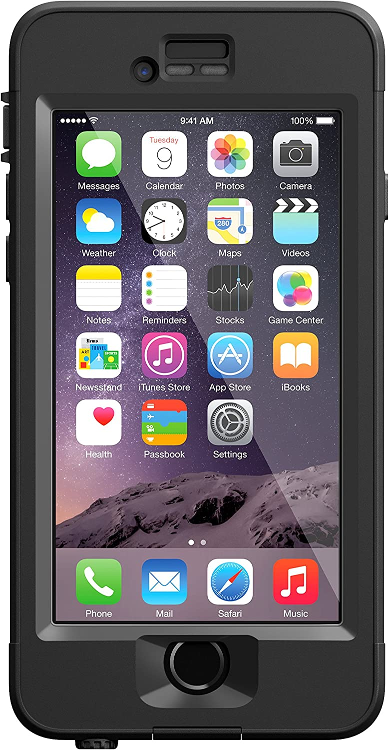 "LifeProof NÜÜD iPhone 6 ONLY Waterproof Case (4.7"" Version) - Retail Packaging - BLACK"