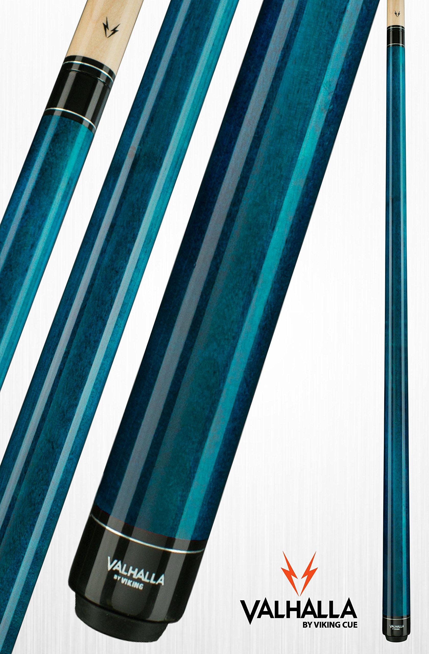 Viking Valhalla 2 Piece Pool Cue Stick VA103 (20oz, Blue)