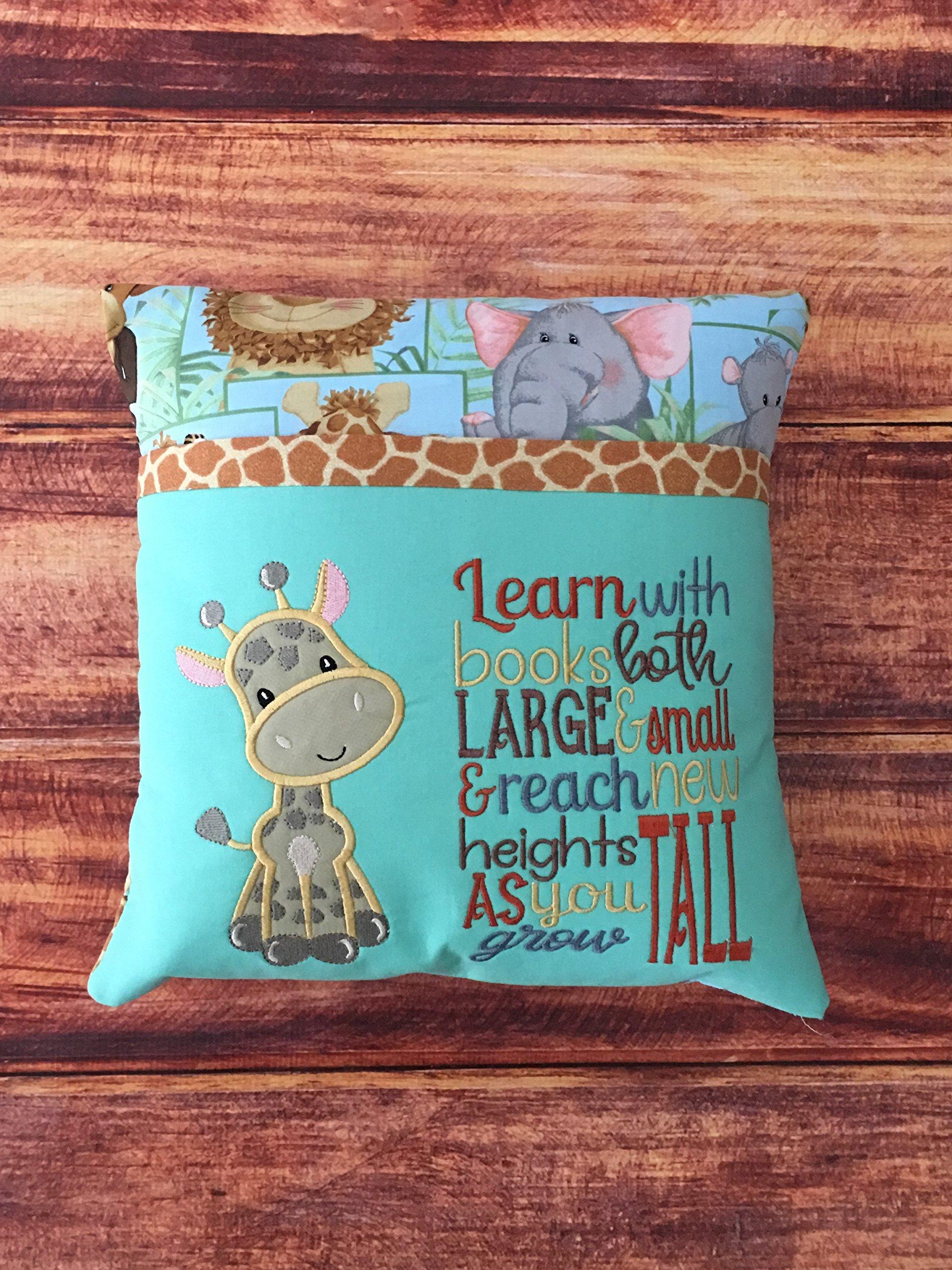 Giraffe Pillow, Animal Print Nursery Giraffe, Giraffe Baby Shower Gift, Giraffe Pillow for Toddler Room, Safari Nursery Decor, Giraffe Decor, Pillow Insert Included