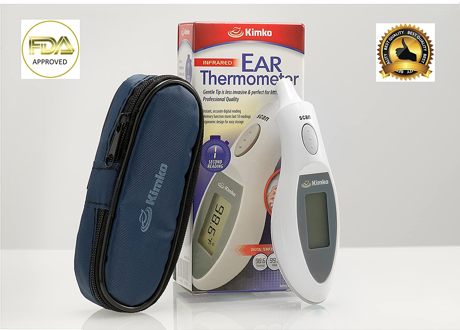 Amazon.com : Ear Thermometer - High Accuracy, FDA Approved Digital Infrared Thermometer - 1 Second Quick Read - Perfect For Kids, Infants, Babies, ...