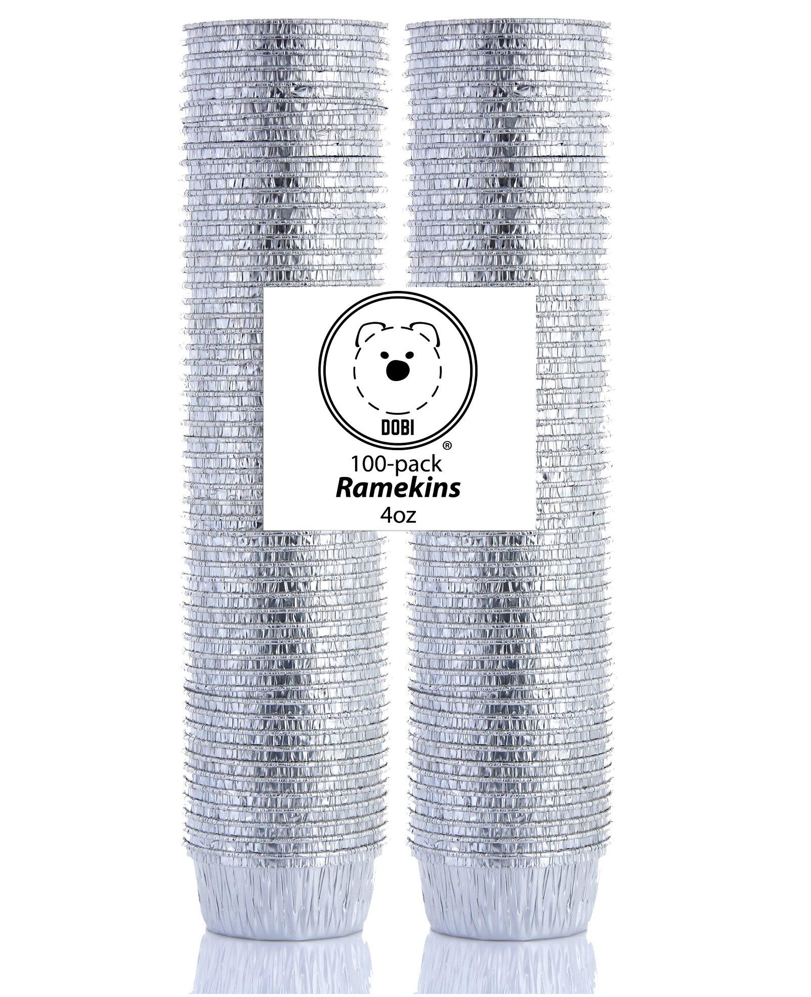 DOBI Ramekins - Disposable Aluminum Foil Ramekins, Standard Size - 4 oz. (Pack of 100)