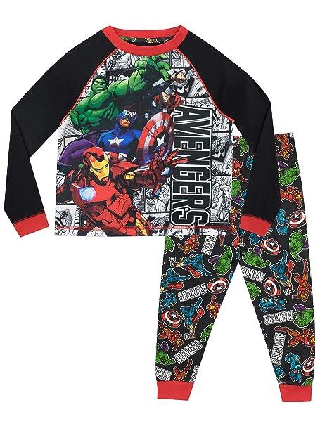 Marvel Pijamas de Manga Larga para niños Avengers 3-4 Años