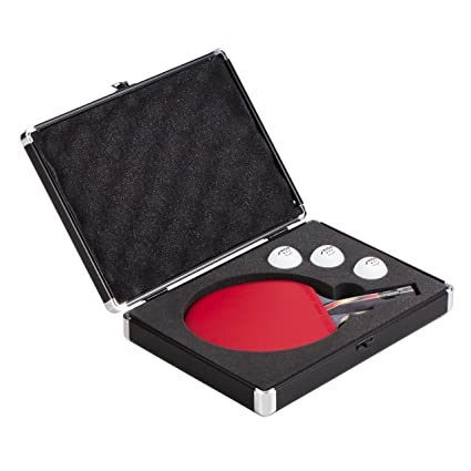 225 & STIGA Aluminum Table Tennis Racket Hard Case Transports and Stores One Racket and Three Balls