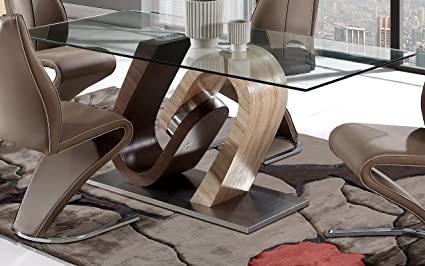 Global Furniture Dining Table Walnut Oak