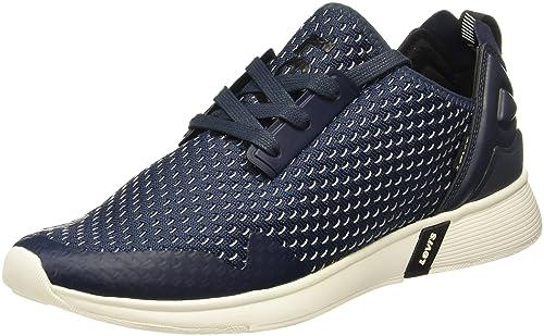 dc0869b2f88e13 Levi s Men s Black Tab Runner Dark Blue Sneakers-11 UK India (46 EU)  (38112-0052)  Buy Online at Low Prices in India - Amazon.in