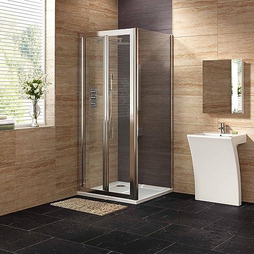 1000 x 800 mm bi-tamaño real con soporte plegable fácil de limpiar en la parte inferior de mampara de ducha de Panel + juego de plato: iBathUK: Amazon.es: Hogar