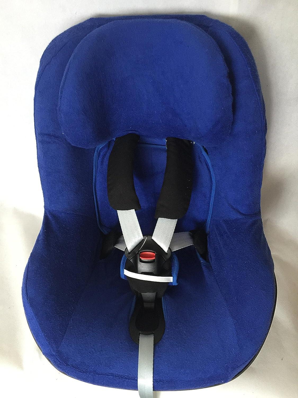 Sommerbezug Schonbezug Frottee für Maxi-cosi Pearl und 2wayPearl Frottee 100% Baumwolle blau EKO