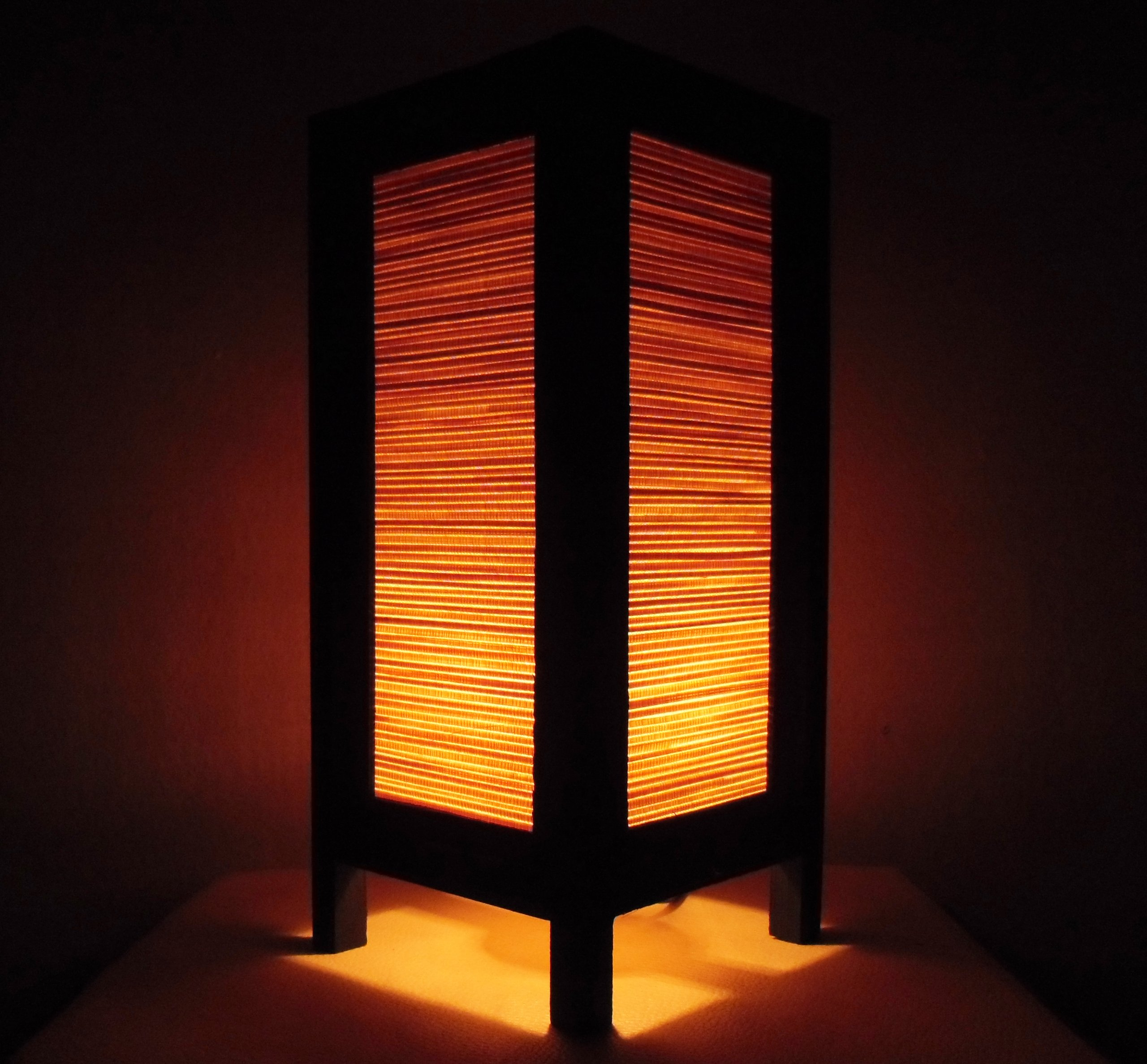 Thai Vintage Handmade ASIAN Oriental Classic Bamboo Art Bedside Table Light or Floor Wood Paper Lamp Shades Home Bedroom Garden Decor Modern Design from Thailand by Red berry Thailand Lanna Lamp