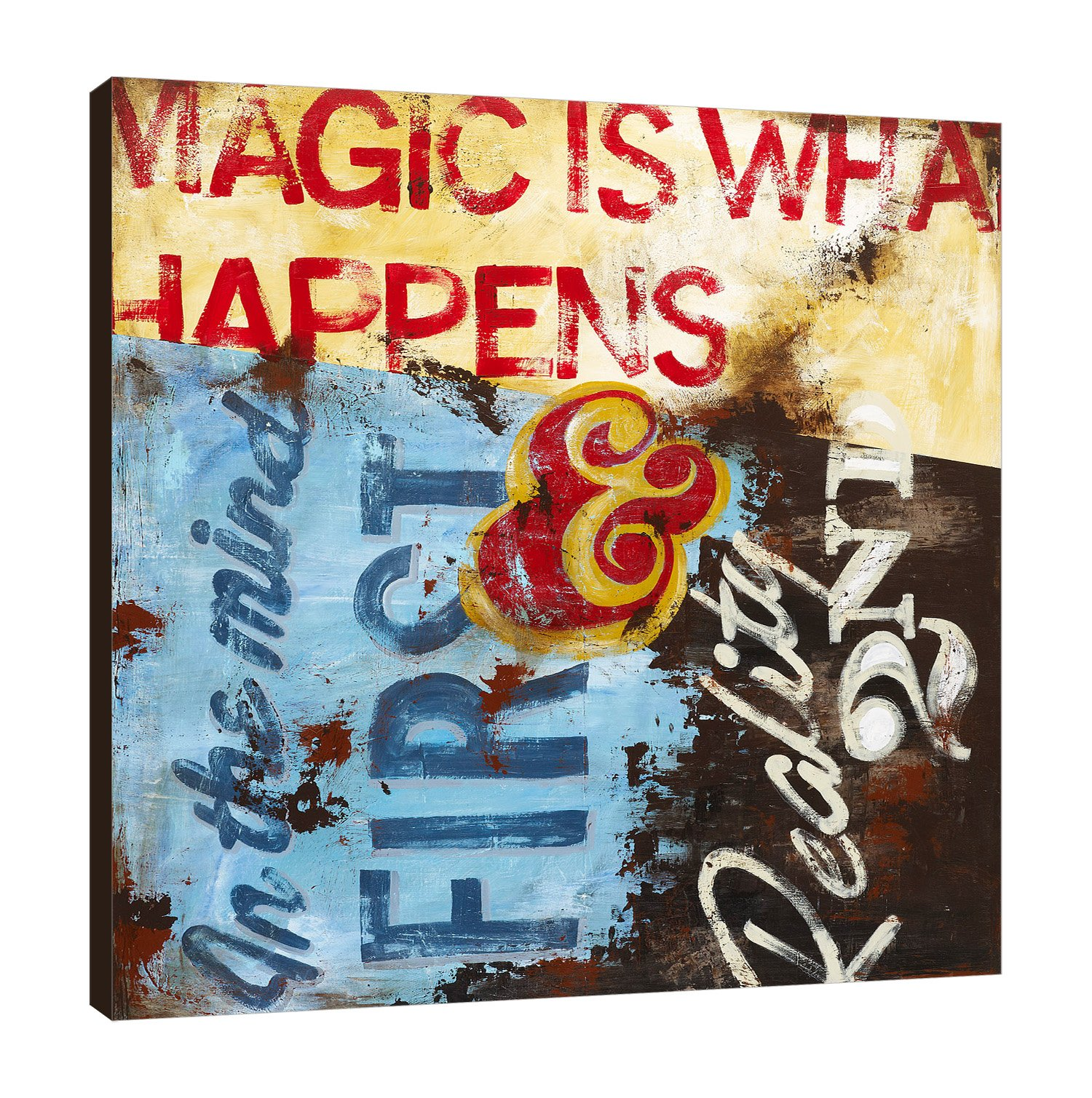 Rodney White SC0671818-RW Strategy for Everyday Sorcery Gallery Wrapped Canvas,,18x18x1.5 by Rodney White