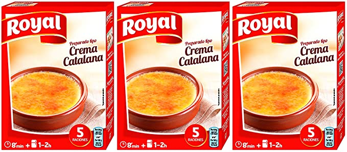 Royal preparado para Crema Catalana 120 gr. - [Pack de 3]: Amazon ...