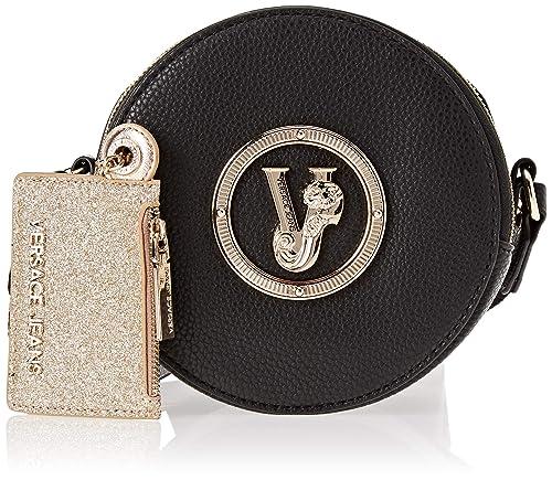 Versace Jeans - Ee1vsbbv2, Carteras de mano Mujer, Negro (Nero), 7.5