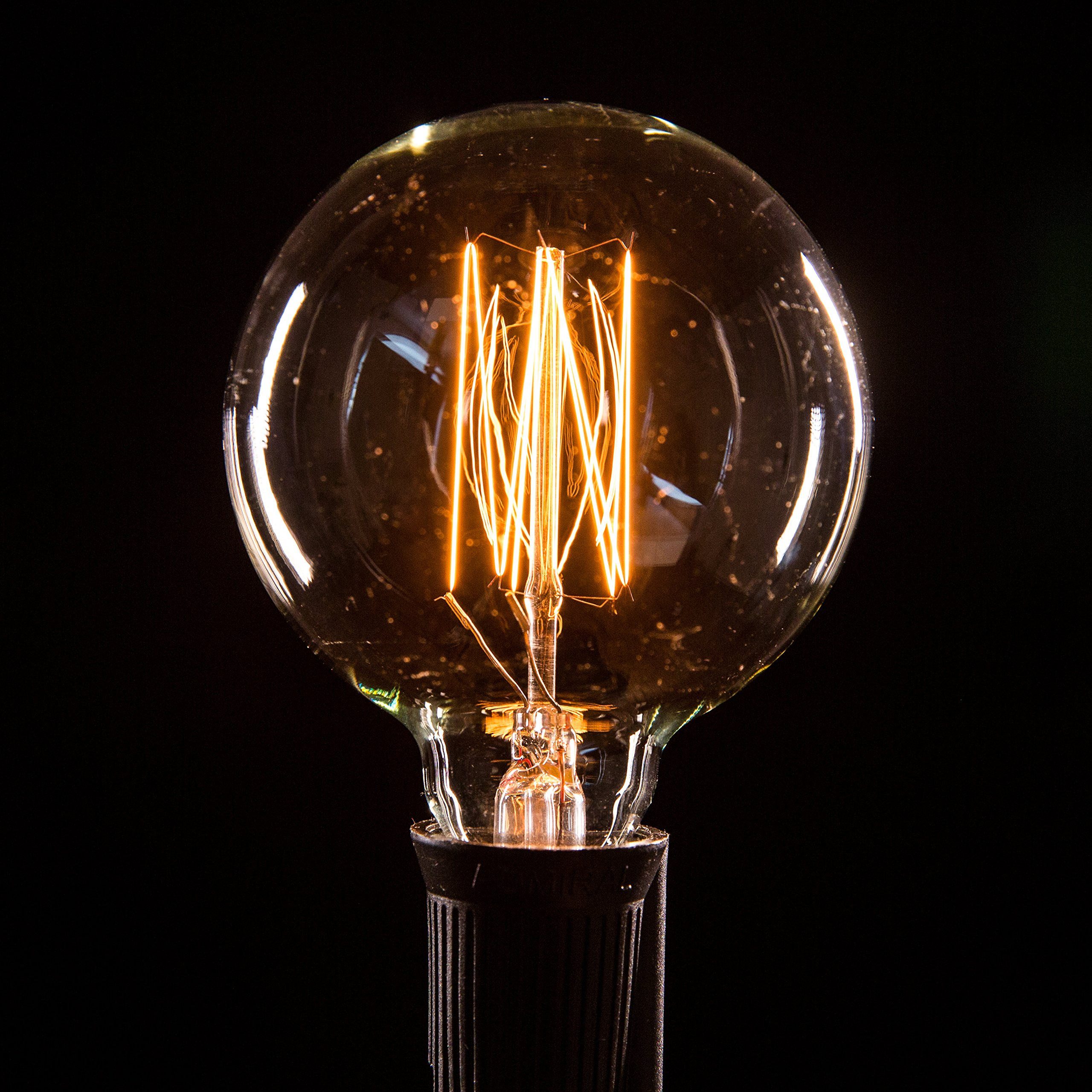 Box of 25 G60 Lantern Edison 2.5 Inch 7 Watt C9 E17 Base Replacement Bulbs